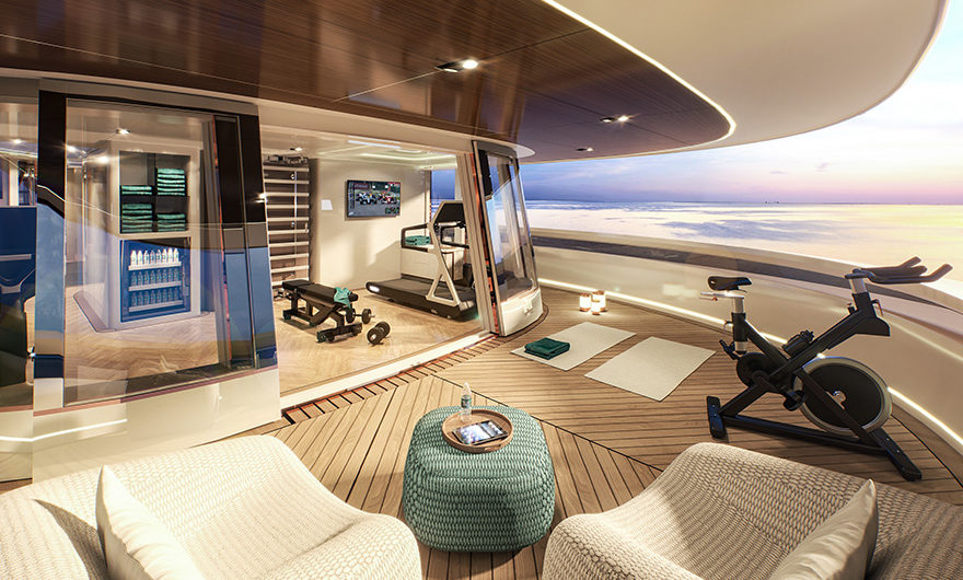 Vripack - yacht concepts - Maharani - Living outside - Keeping fit and in shape - Fitness studio on this super yacht