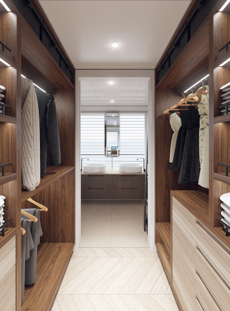 Vripack - M5 yacht - Interior wardrobe - Beach-House atmosphere