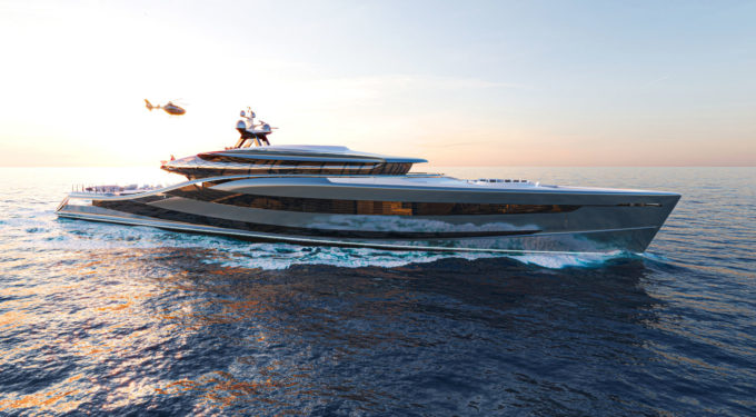 Futura - Vripack yacht design - Concept super yacht - 66m 100% fossil free - innovative environmentally friendly solutions.