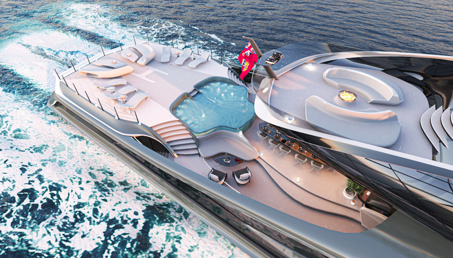 Vripack - yacht concepts - Futura - Yacht with zero footprint